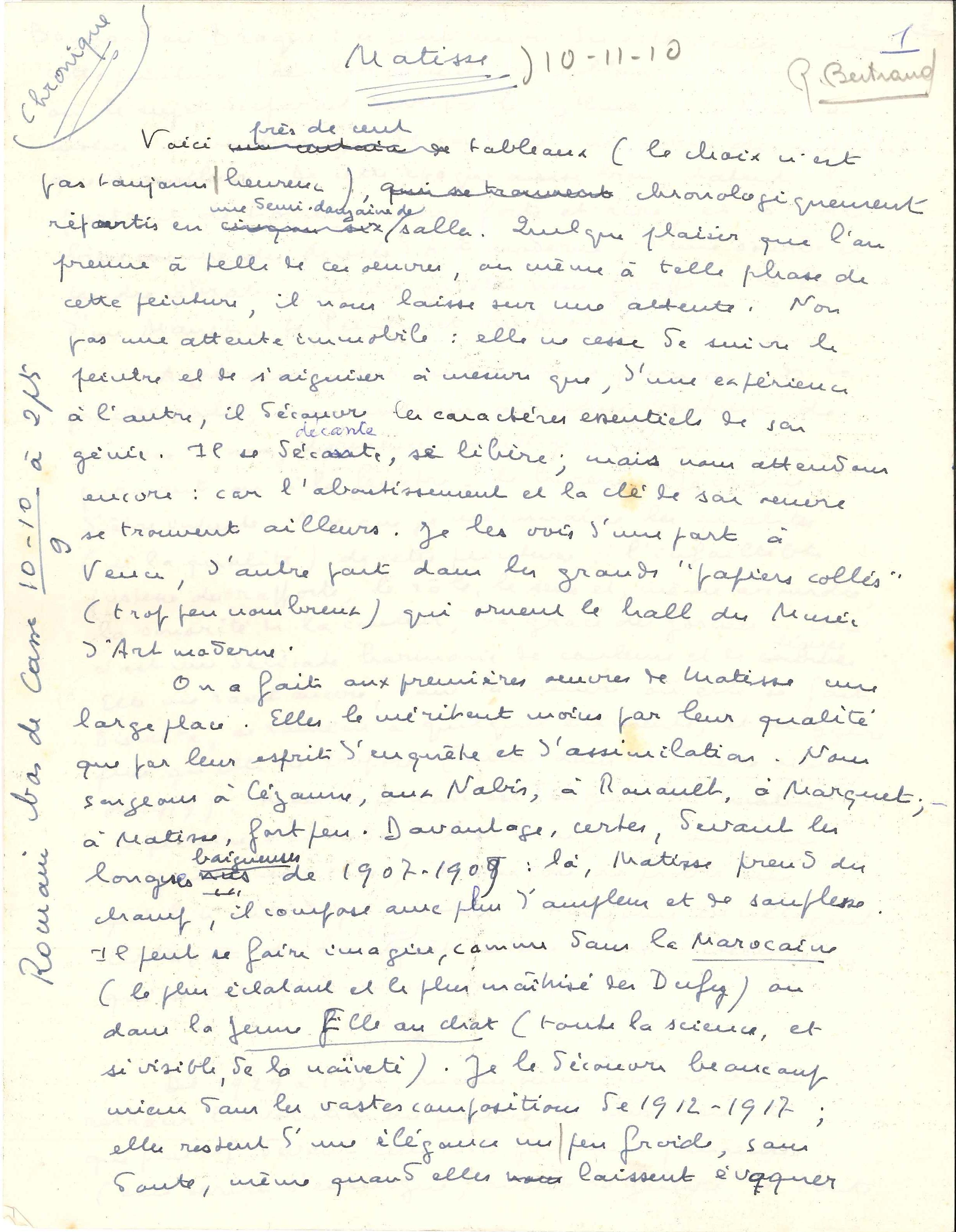 010. Marcel ARLAND (1899-1986) écrivain Image