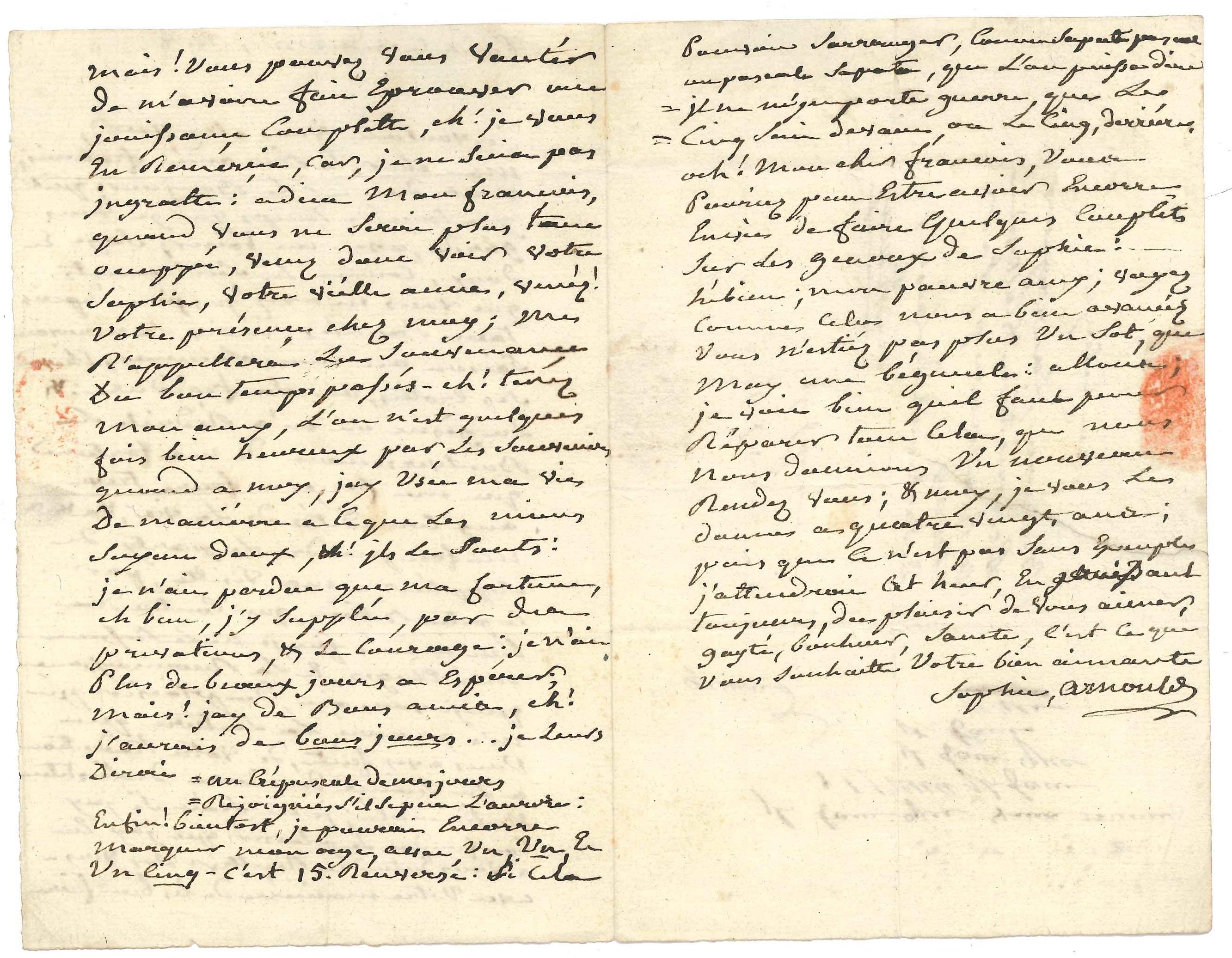 011. Sophie ARNOULD (1744-1803) cantatrice, interprète de Gluck dont elle créa l'Eurydice et Iphigénie en Aulide. Image