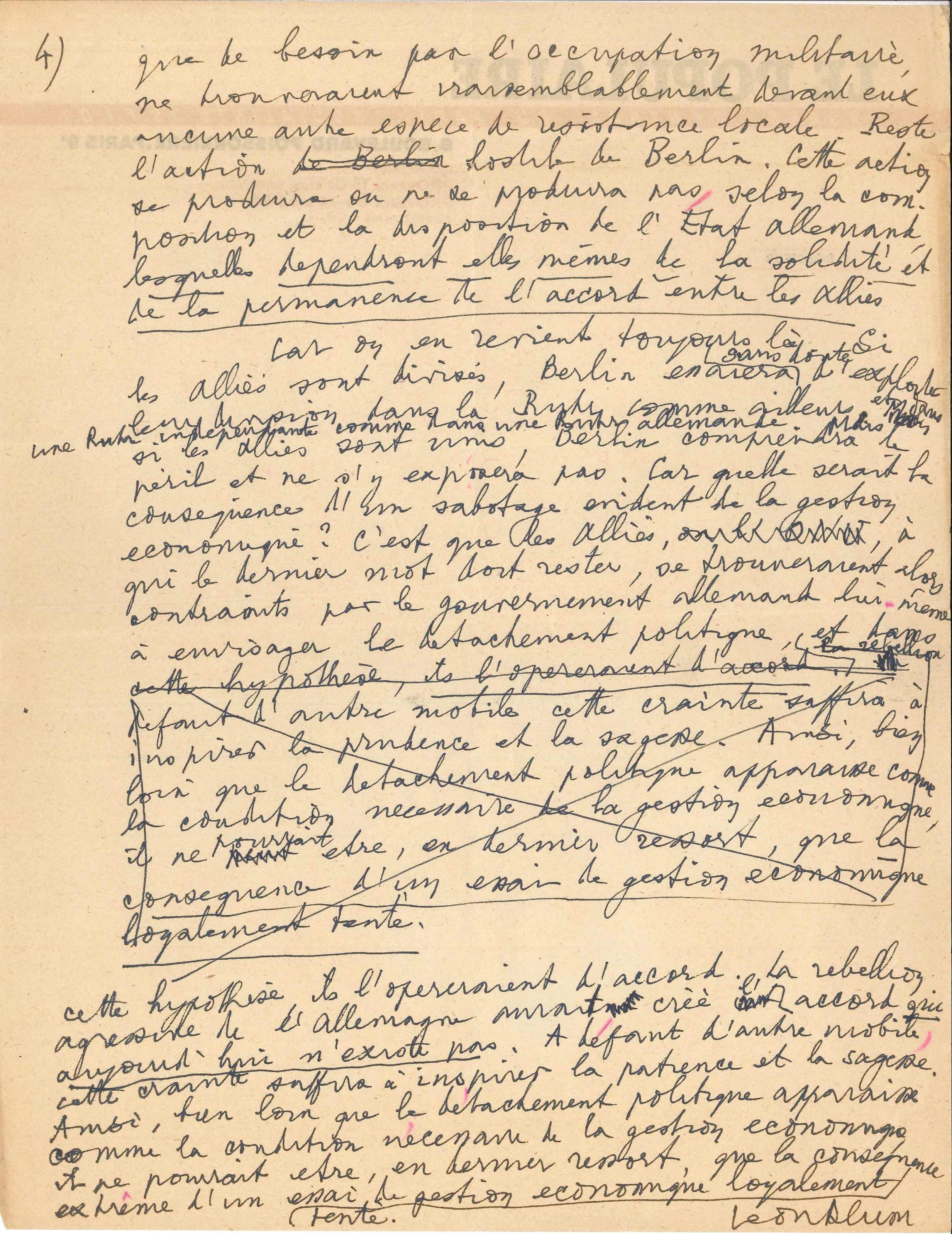027. Léon BLUM (1872-1950) homme politique et écrivain Image