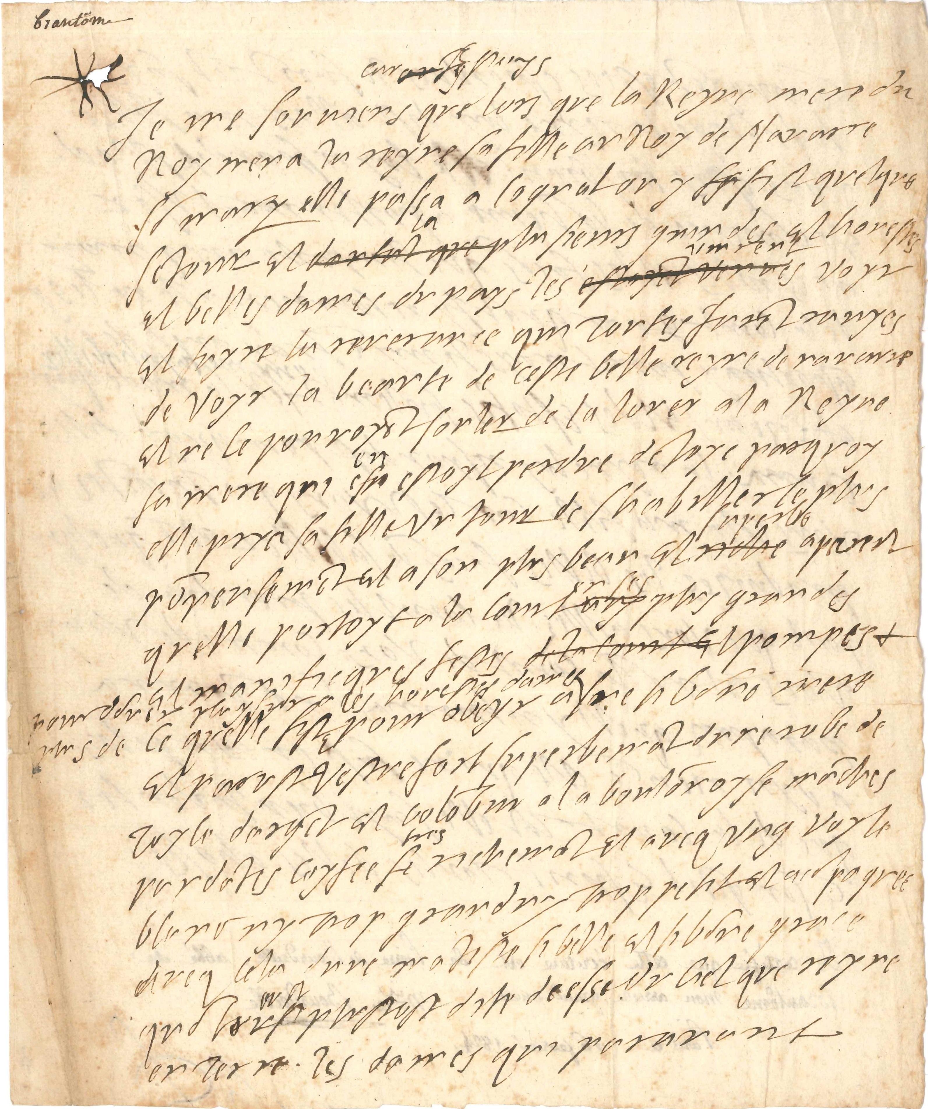 034. Pierre de Bourdeille, seigneur de BRANTÔME (1540-1614) écrivain, mémorialiste, auteur des Vies des hommes illustres et des Dames galantes Image