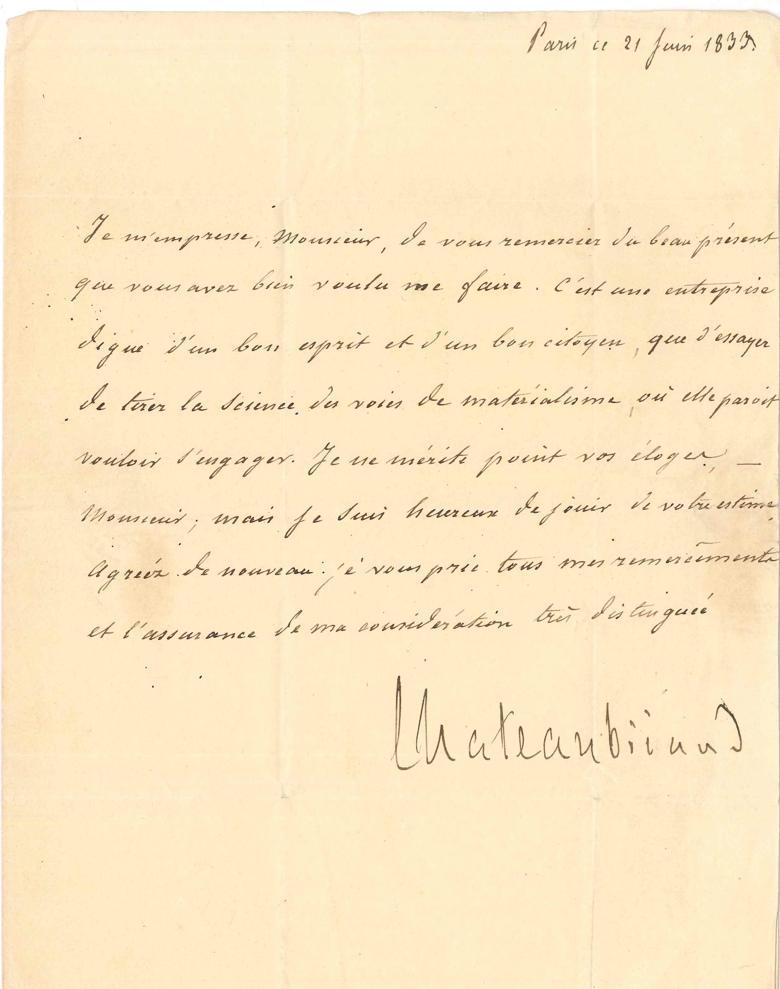 061. François-René de CHATEAUBRIAND (1768-1848) écrivain Image