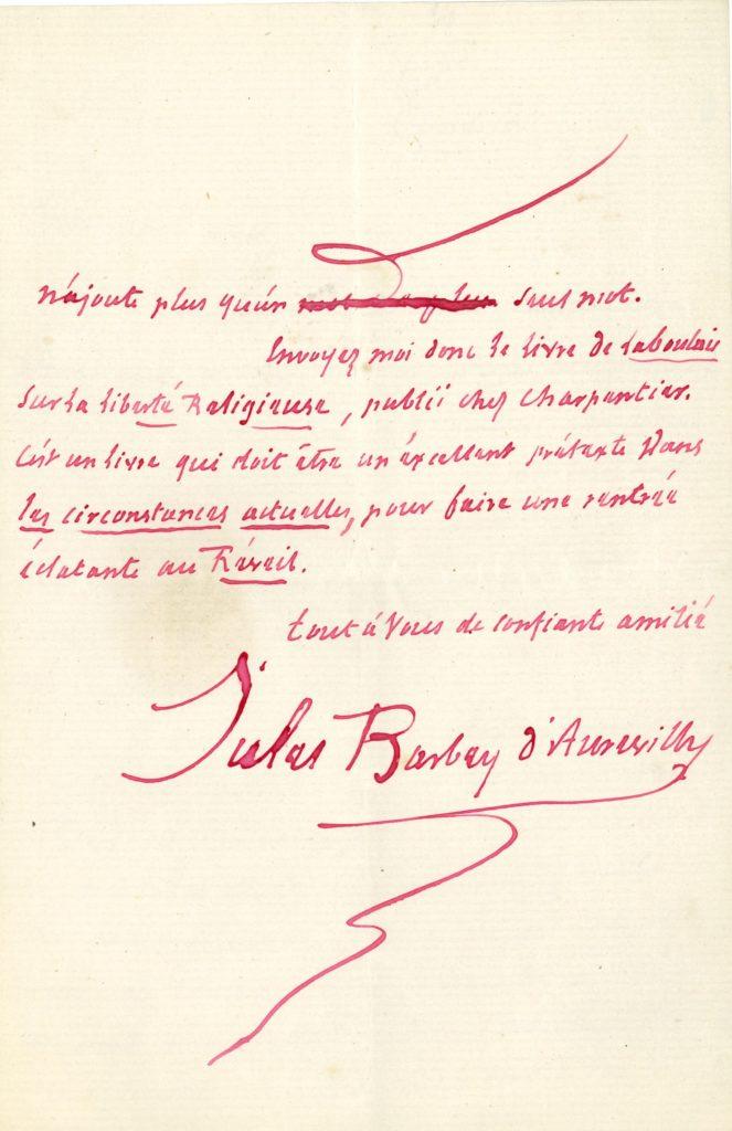 013 Jules BARBEY D'AUREVILLY (1808-1889) écrivain Image