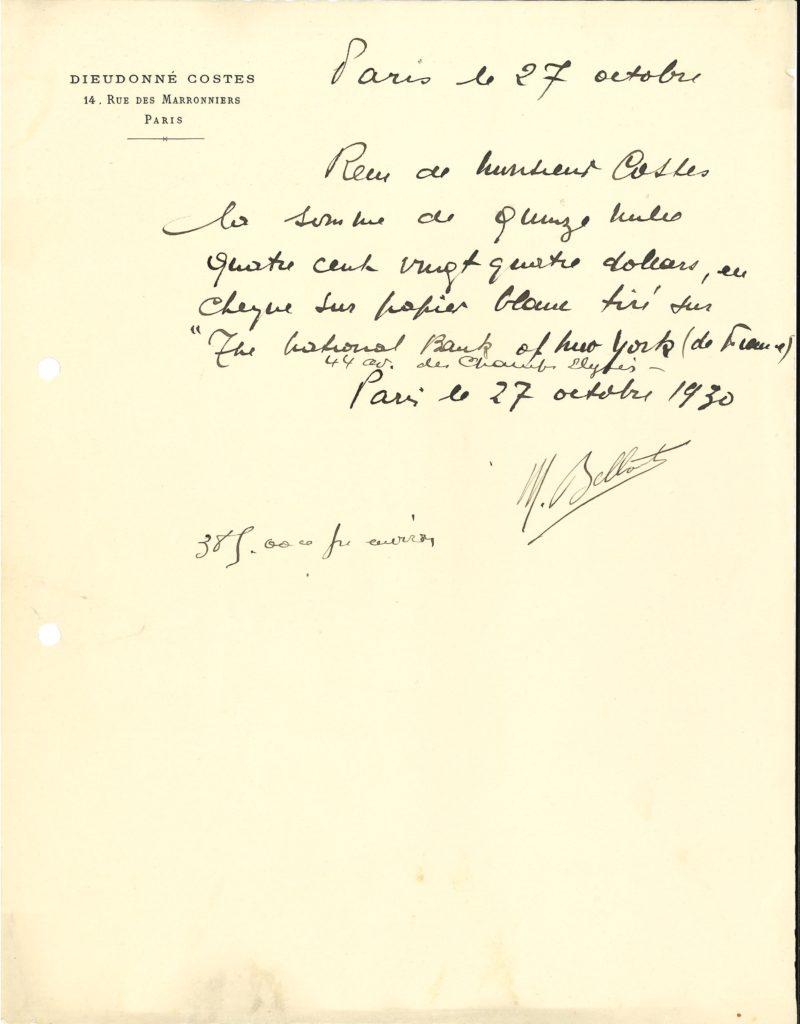 020 Maurice BELLONTE (1896-1984) aviateur, il réussit avec Dieudonné Costes la première traversée Paris-New York sans escale Image