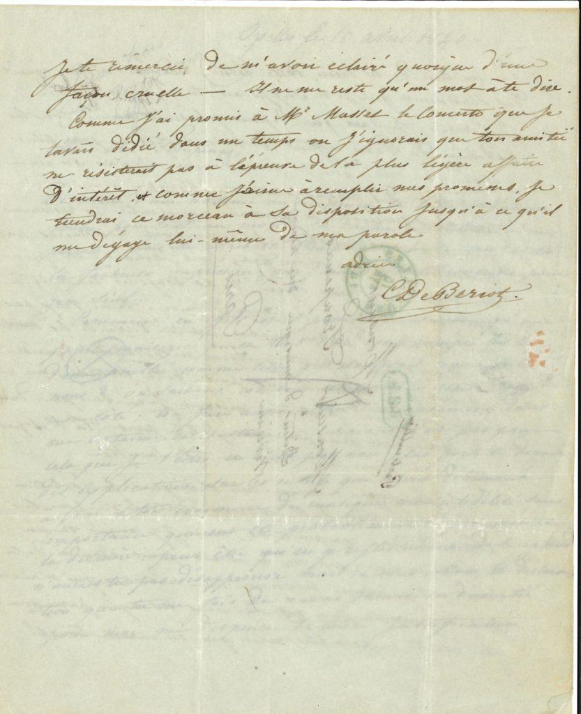 021 Charles de BÉRIOT (1802-1870) violoniste et compositeur, mari de la Malibran Image
