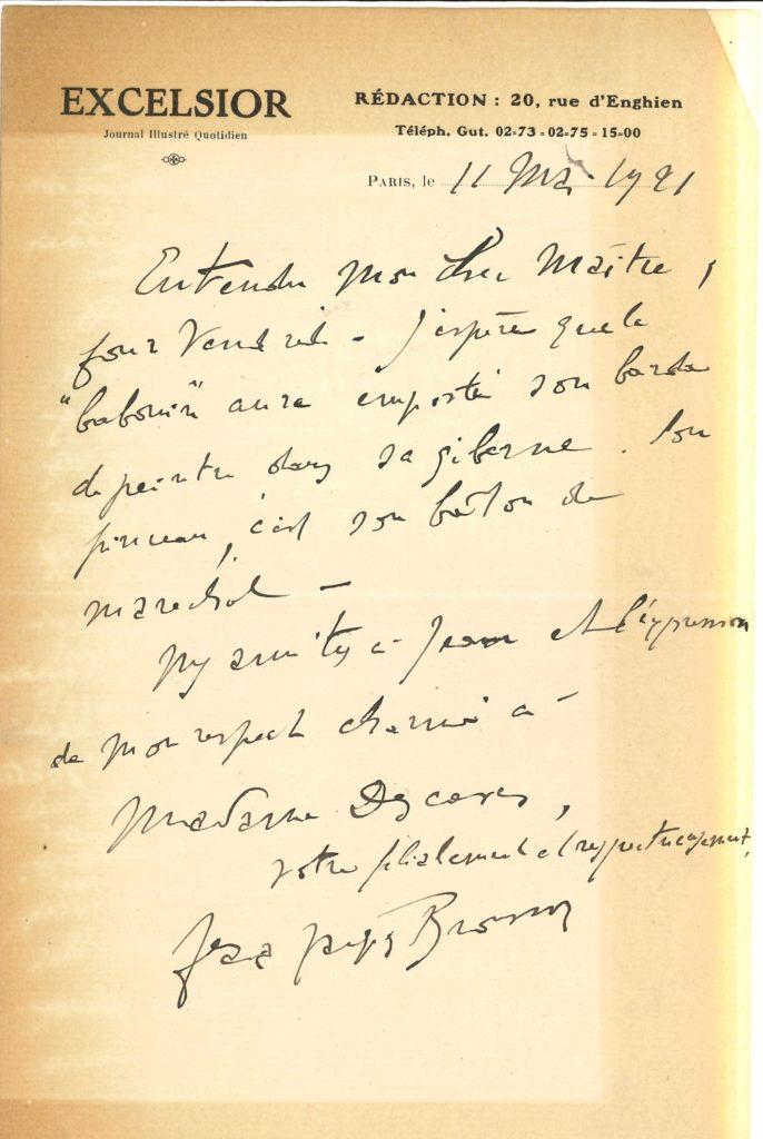 042 Jean-Jacques BROUSSON (1878-1958) homme de lettres, journaliste et écrivain Image