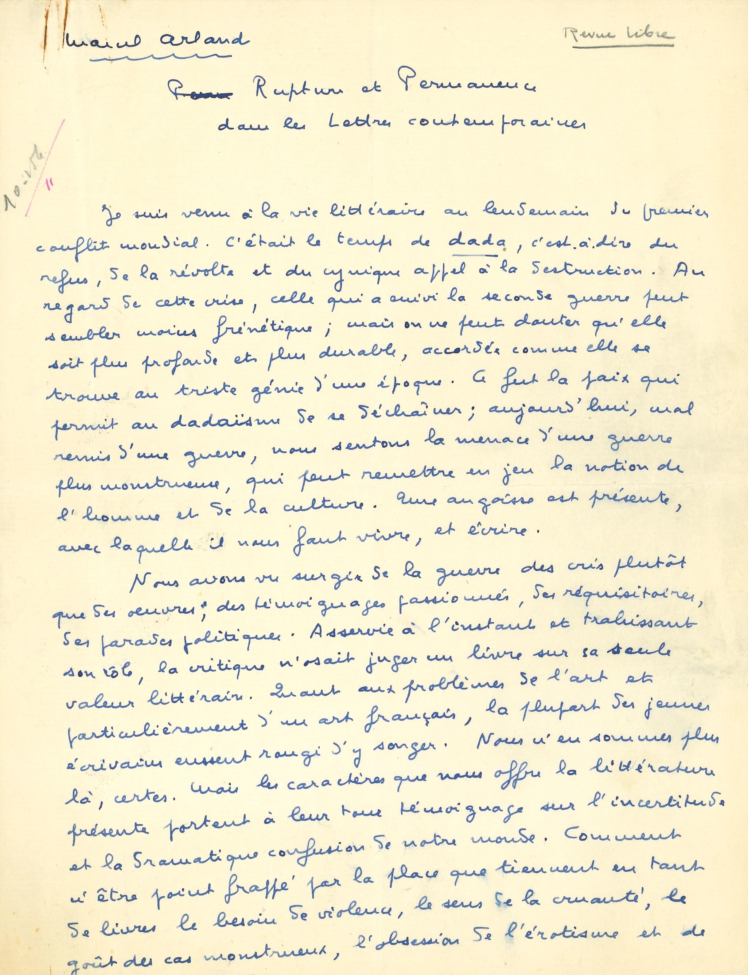 005 Marcel ARLAND (1899-1986) écrivain Image